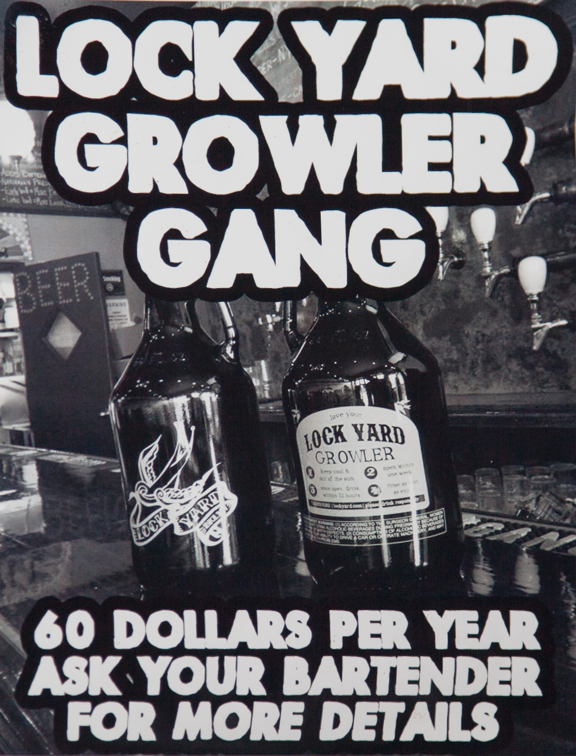 Lock Yard Growler Gang Poster