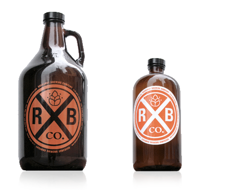 Rockaway Brewing Company Growlers