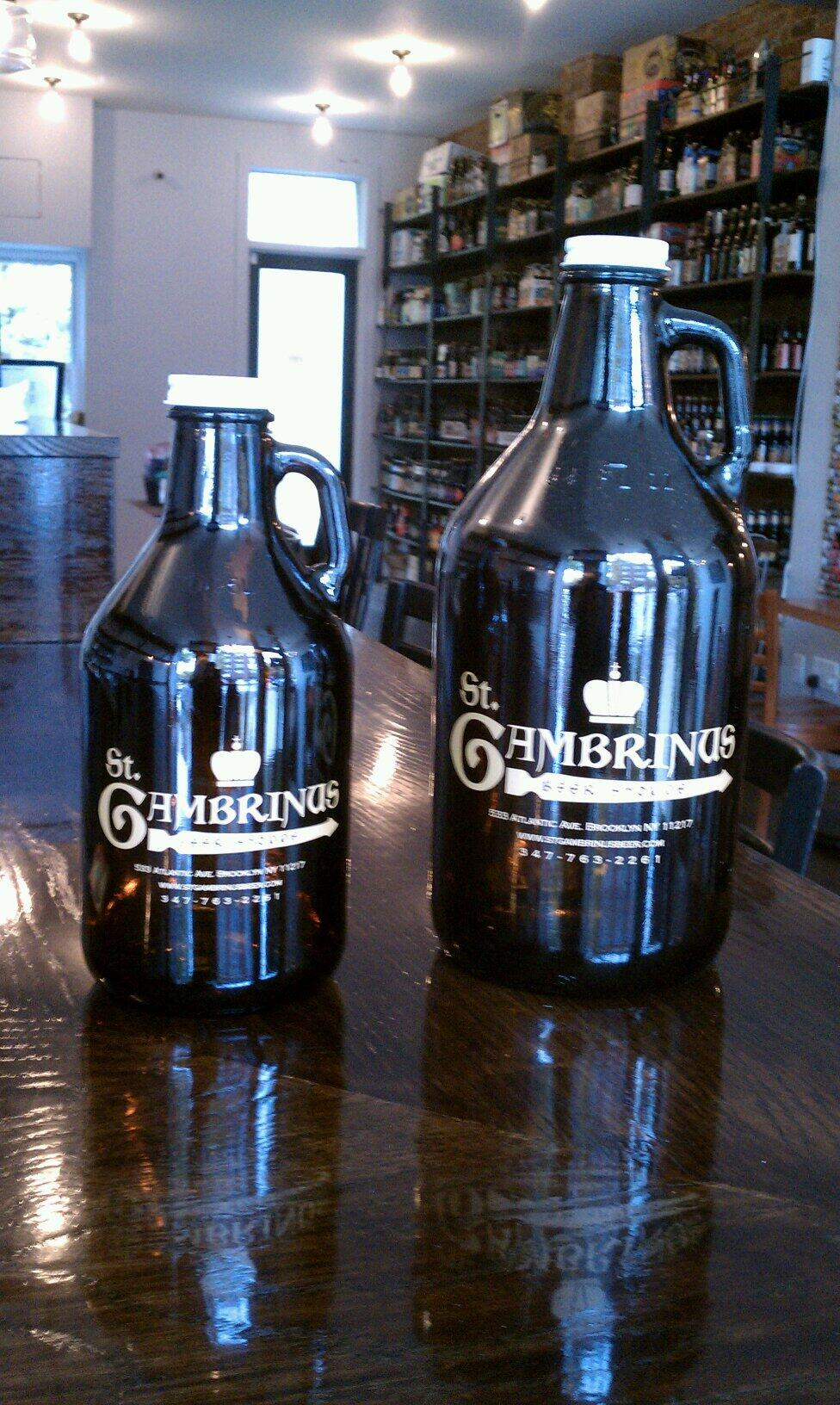 St Gambrinus Beer Shoppe Growlers