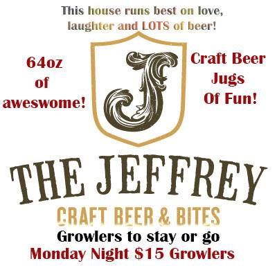 The Jeffrey Craft Beer and Bites Logo
