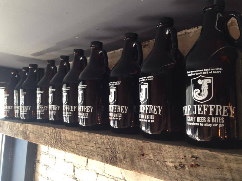The Jeffrey Craft Beer and Bites Growlers